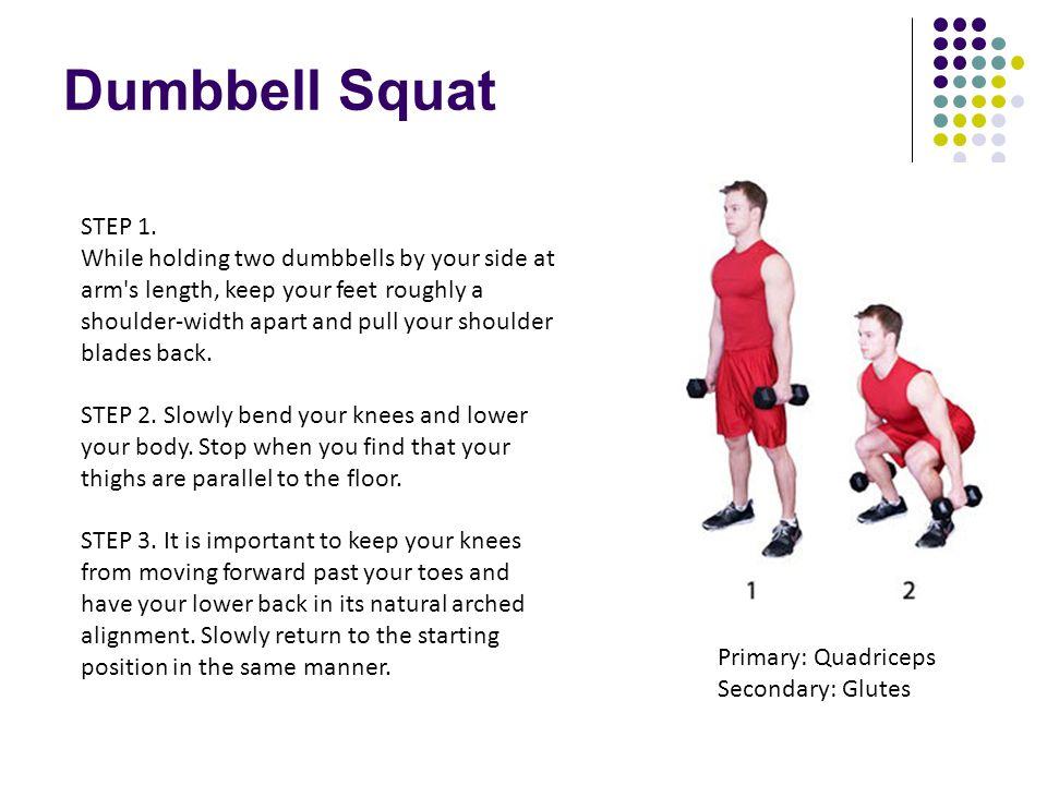 Dumbbell Squat STEP 1.