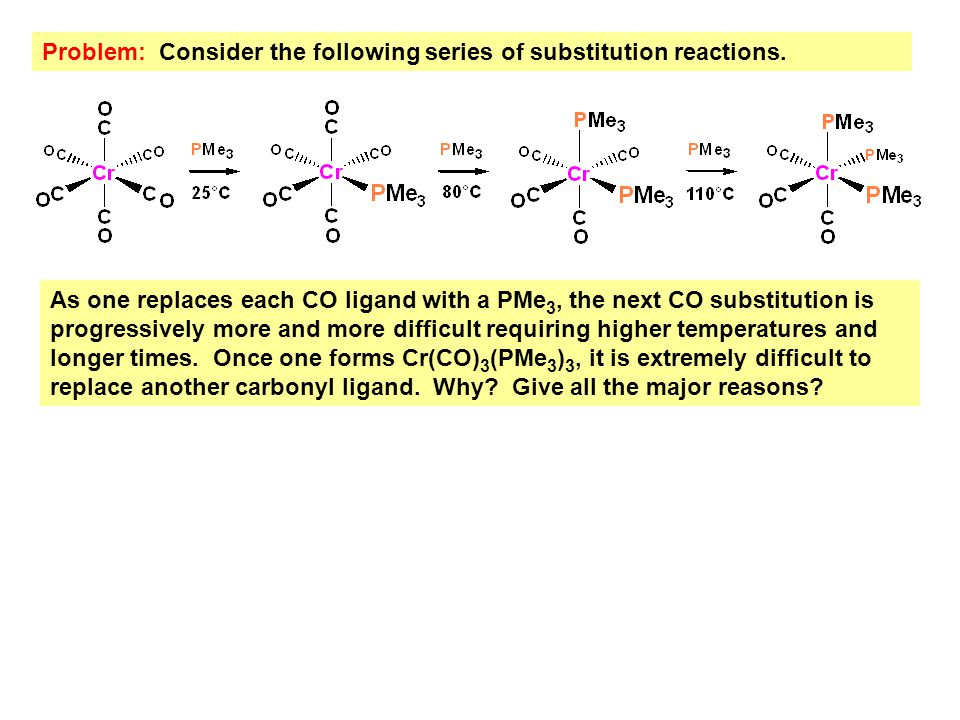 Problem: Consider the following series of substitution reactions.