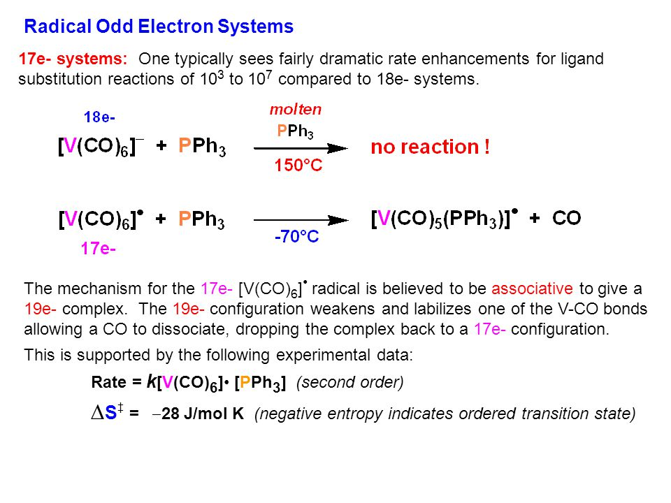 Radical Odd Electron Systems