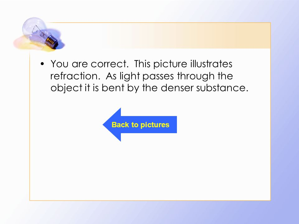 You are correct. This picture illustrates refraction