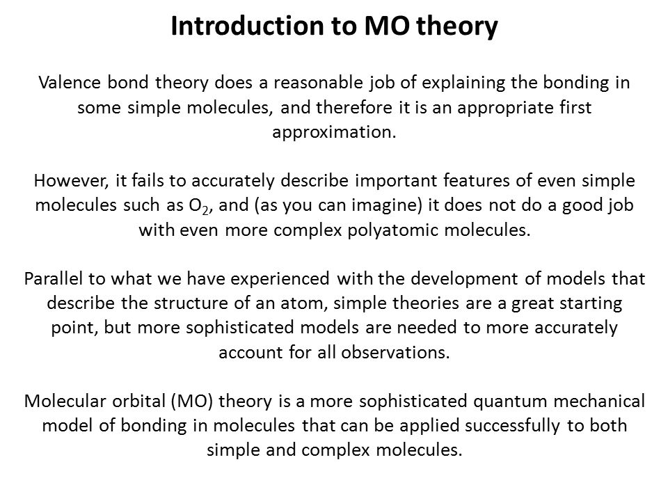 Introduction to MO theory