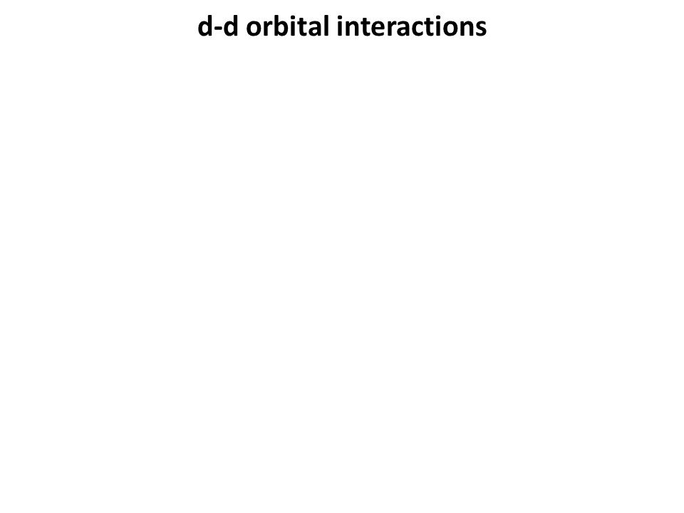d-d orbital interactions