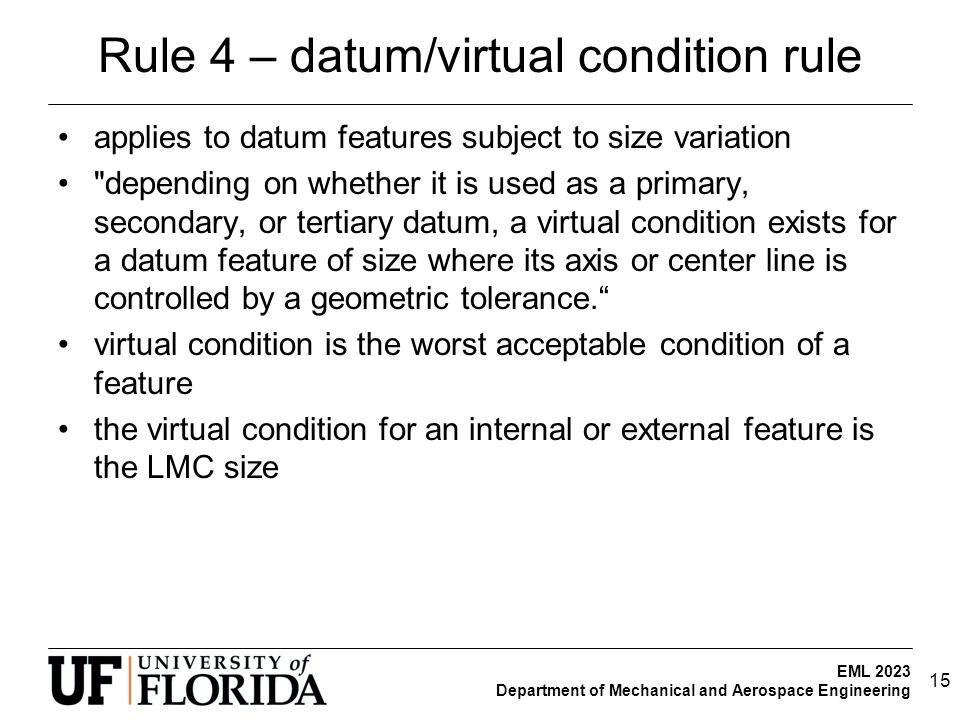 Rule 4 – datum/virtual condition rule