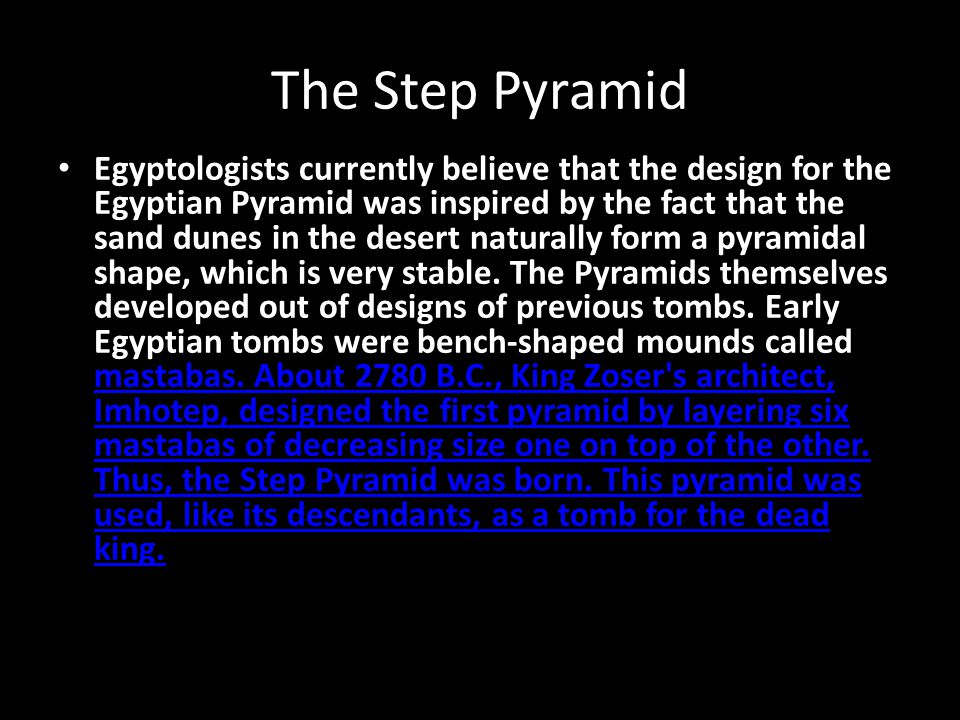 The Step Pyramid