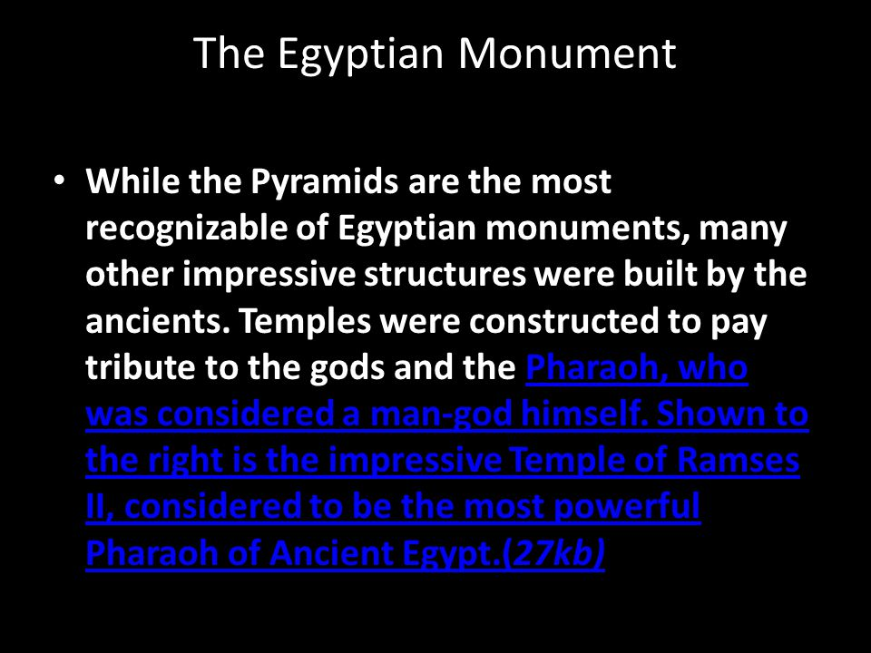 The Egyptian Monument
