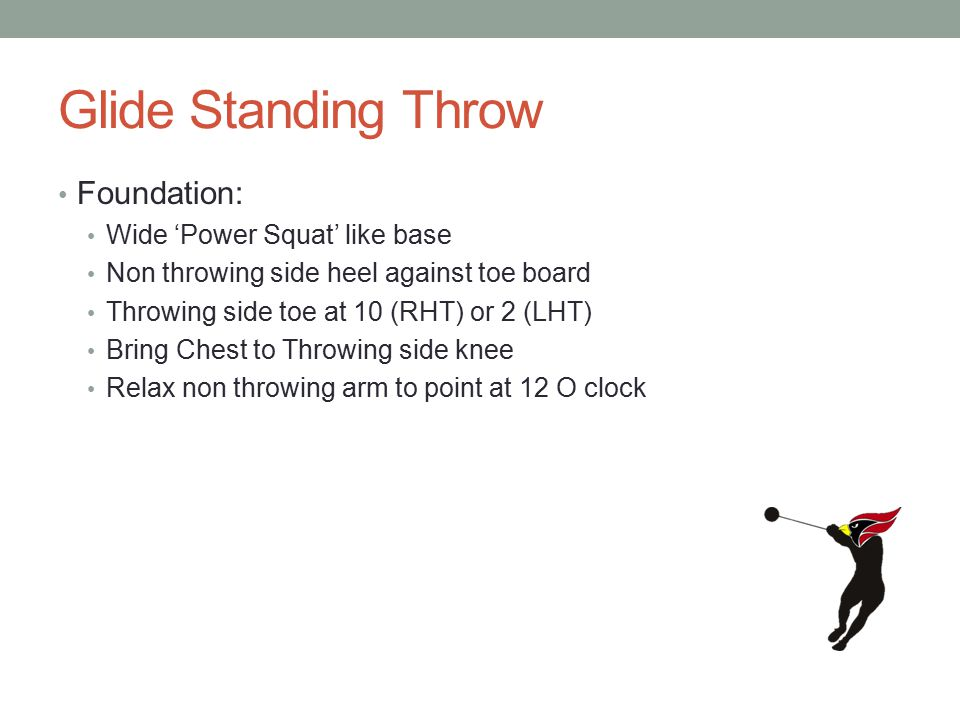 Glide Standing Throw Foundation: Wide 'Power Squat' like base