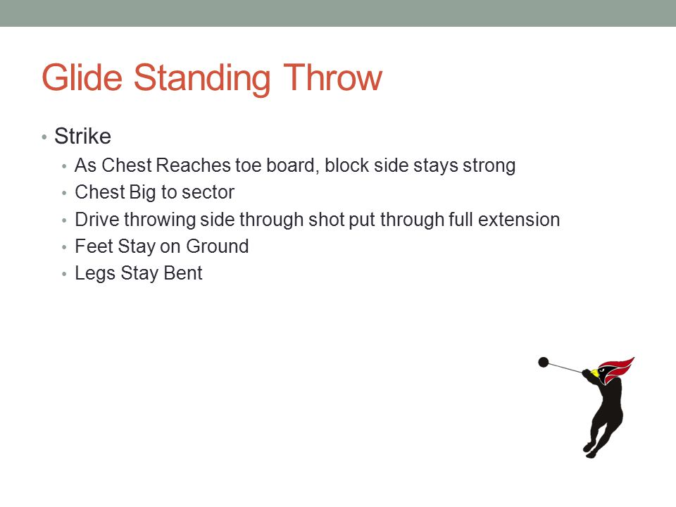 Glide Standing Throw Strike