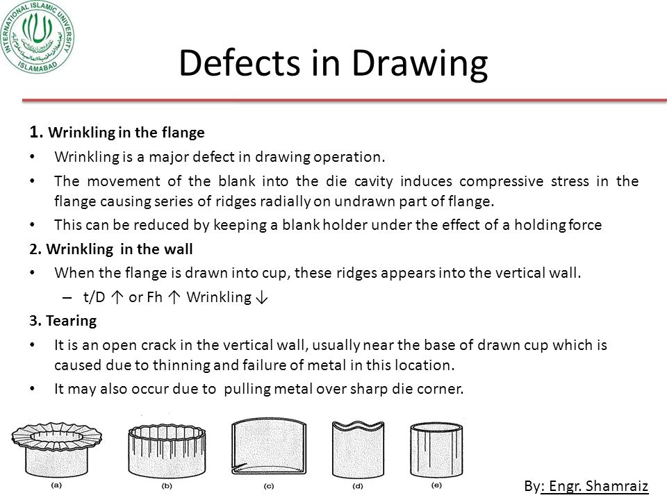 Defects in Drawing 1. Wrinkling in the flange