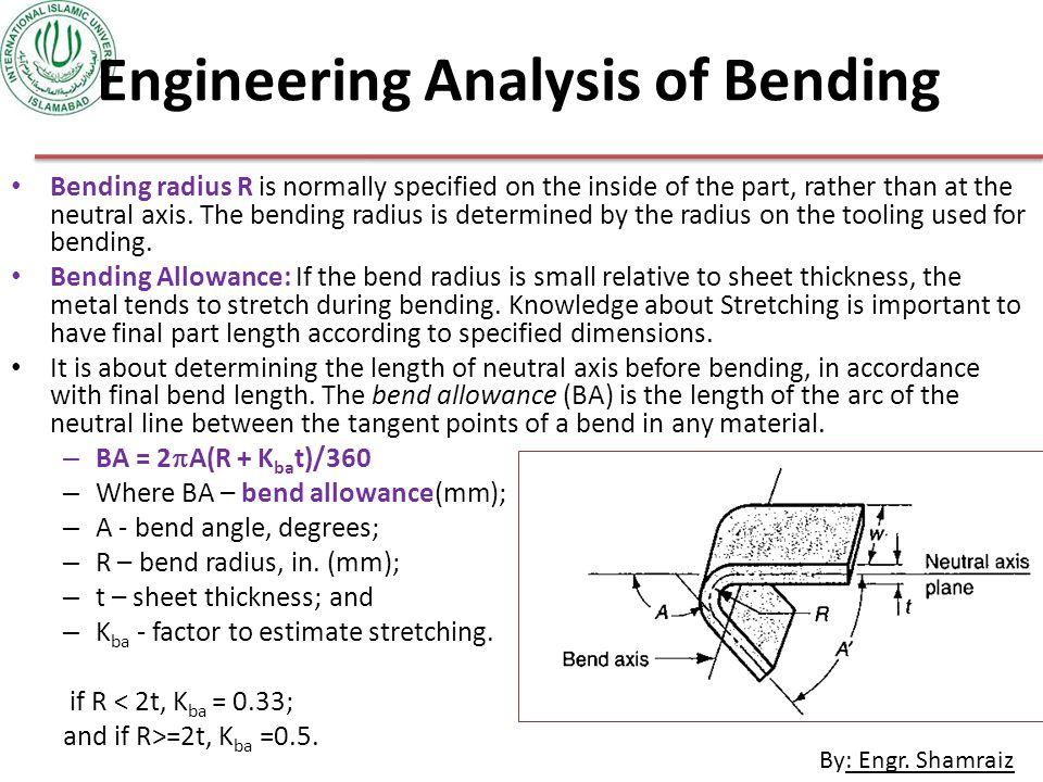Engineering Analysis of Bending