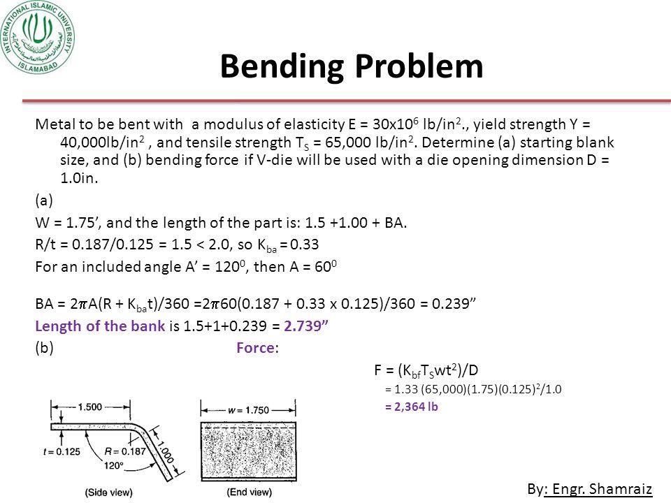 Bending Problem