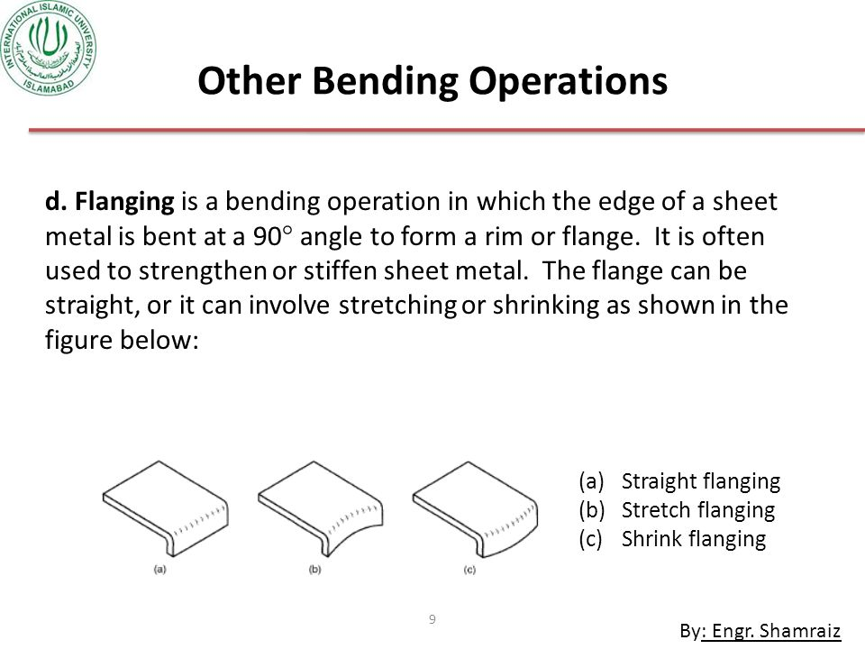 Other Bending Operations