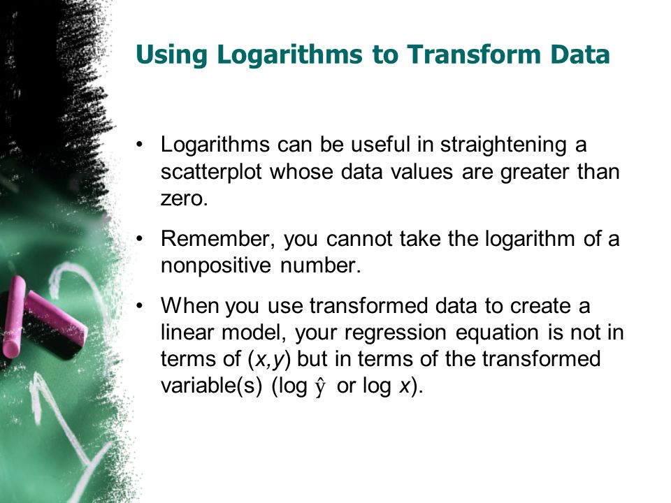 Using Logarithms to Transform Data