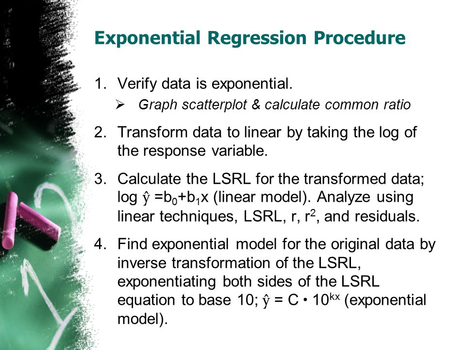 Exponential Regression Procedure