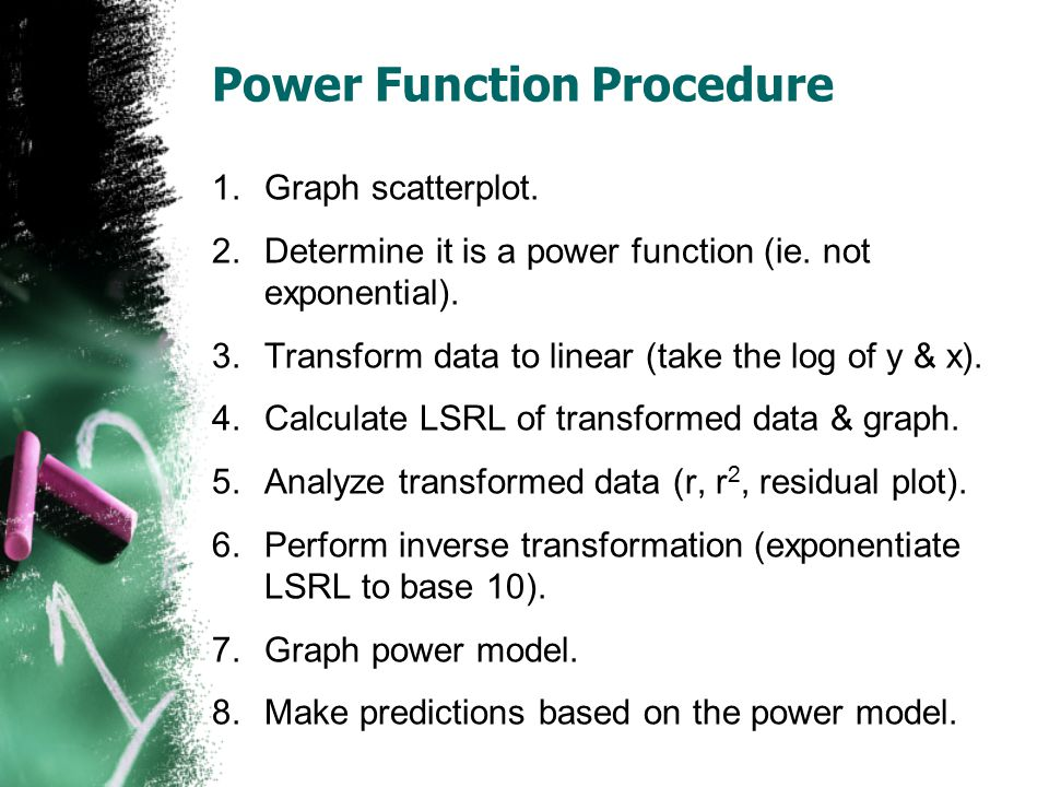 Power Function Procedure