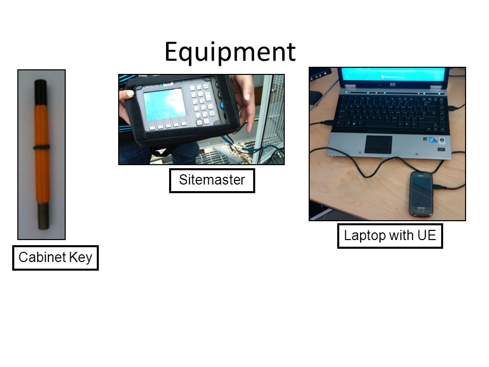 Equipment Sitemaster Laptop with UE Cabinet Key