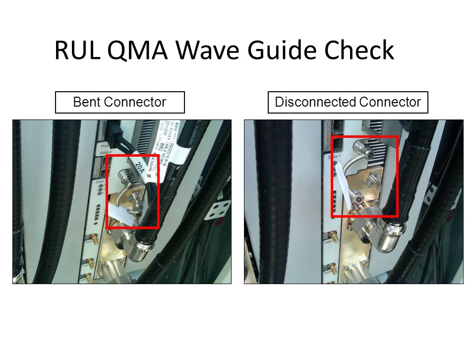 RUL QMA Wave Guide Check