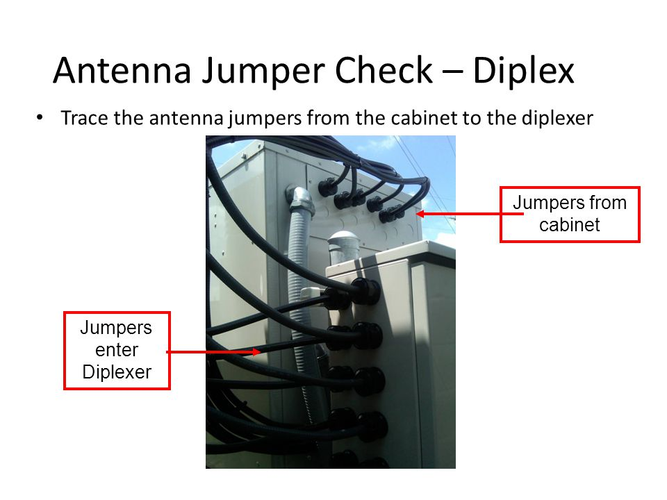 Antenna Jumper Check – Diplex