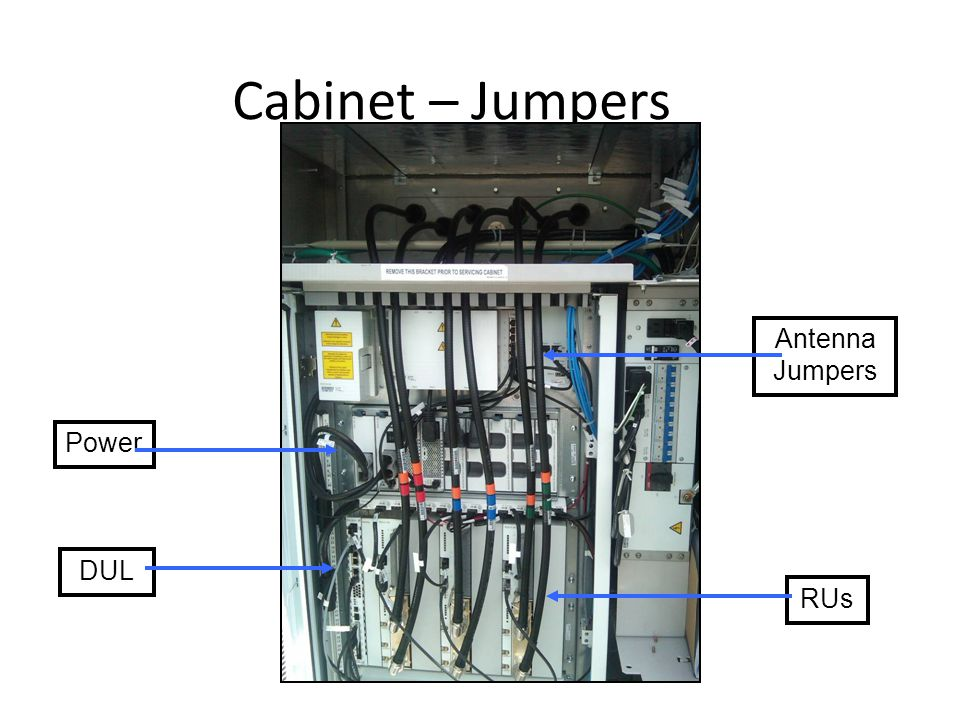 Cabinet – Jumpers Antenna Jumpers Power DUL RUs