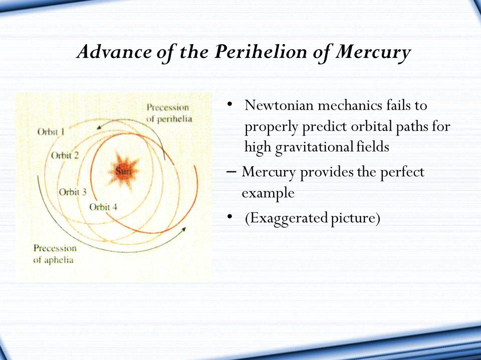 Advance of the Perihelion of Mercury