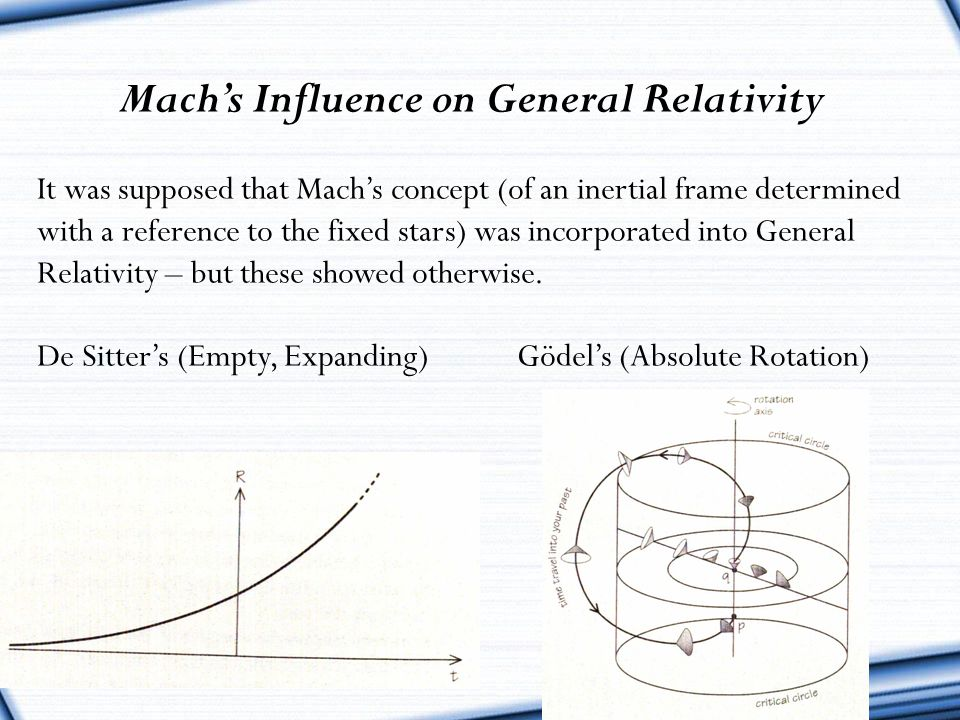 Mach's Influence on General Relativity