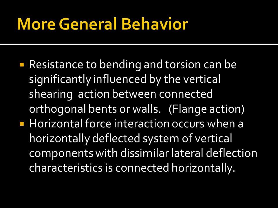 More General Behavior
