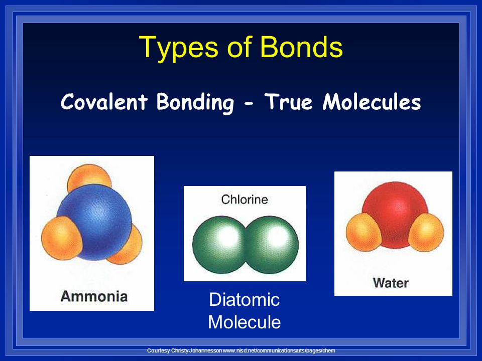 Covalent Bonding - True Molecules