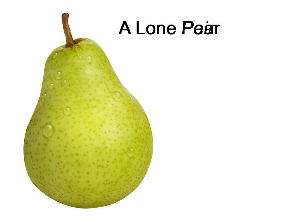 A Lone Pair A Lone Pear http://k53.pbase.com/u26/dannysmythe/large/43277044.Pear.jpg
