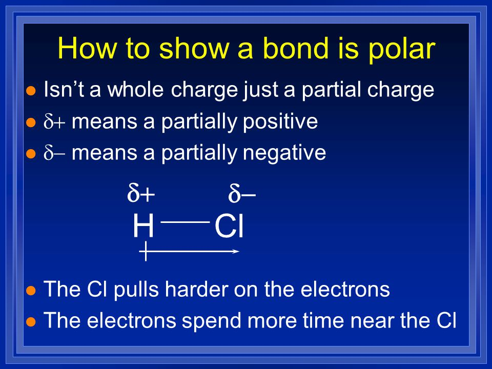 How to show a bond is polar