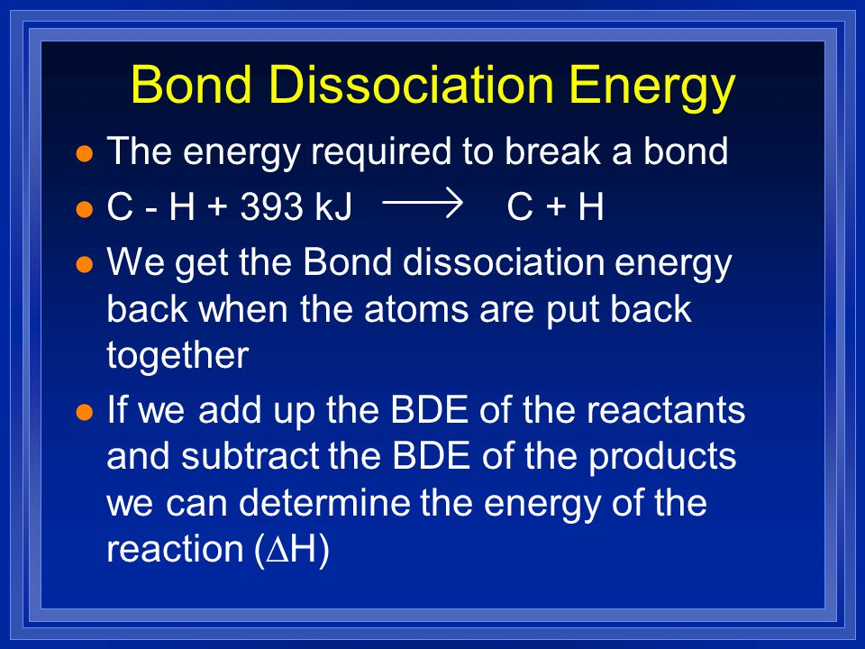 Bond Dissociation Energy