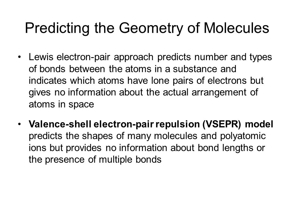 Predicting the Geometry of Molecules