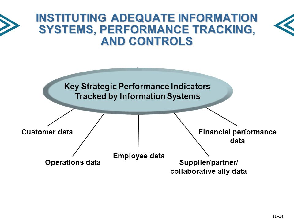INSTITUTING ADEQUATE INFORMATION SYSTEMS, PERFORMANCE TRACKING, AND CONTROLS