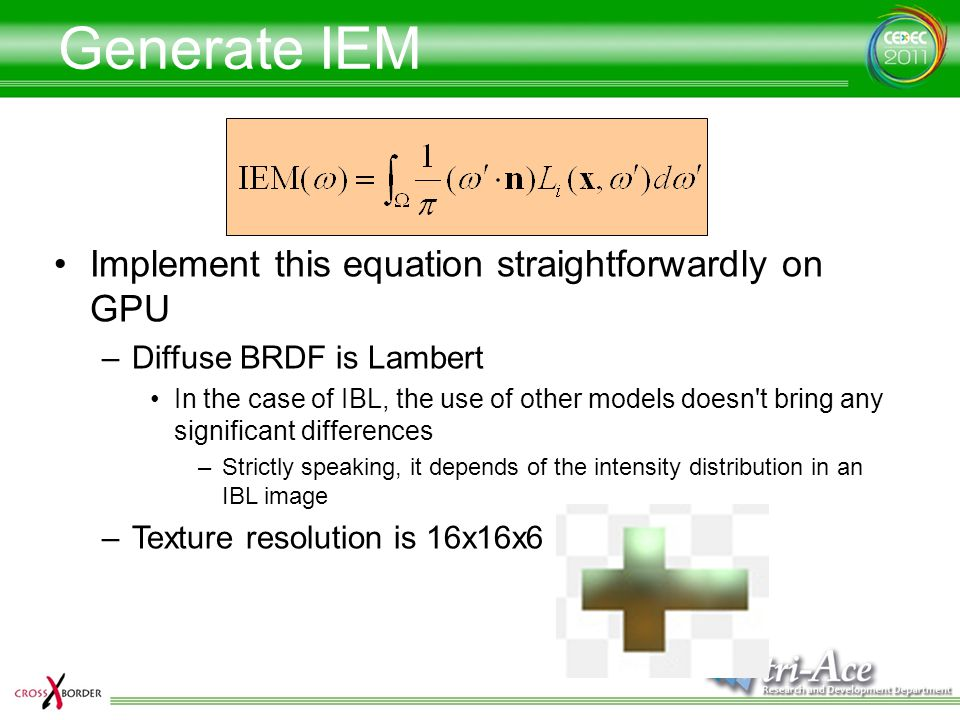 Generate IEM Implement this equation straightforwardly on GPU