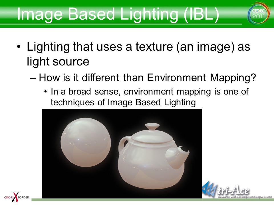 Image Based Lighting (IBL)