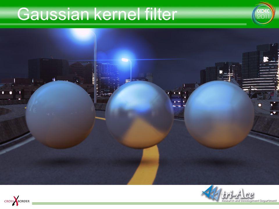 Gaussian kernel filter