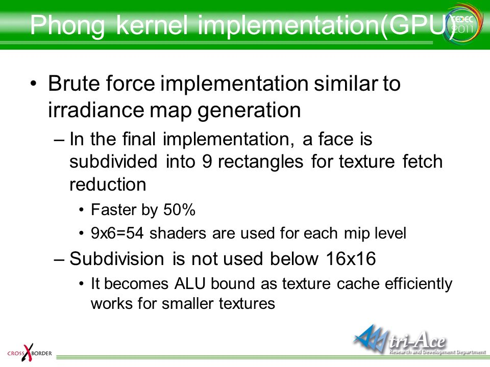 Phong kernel implementation(GPU)