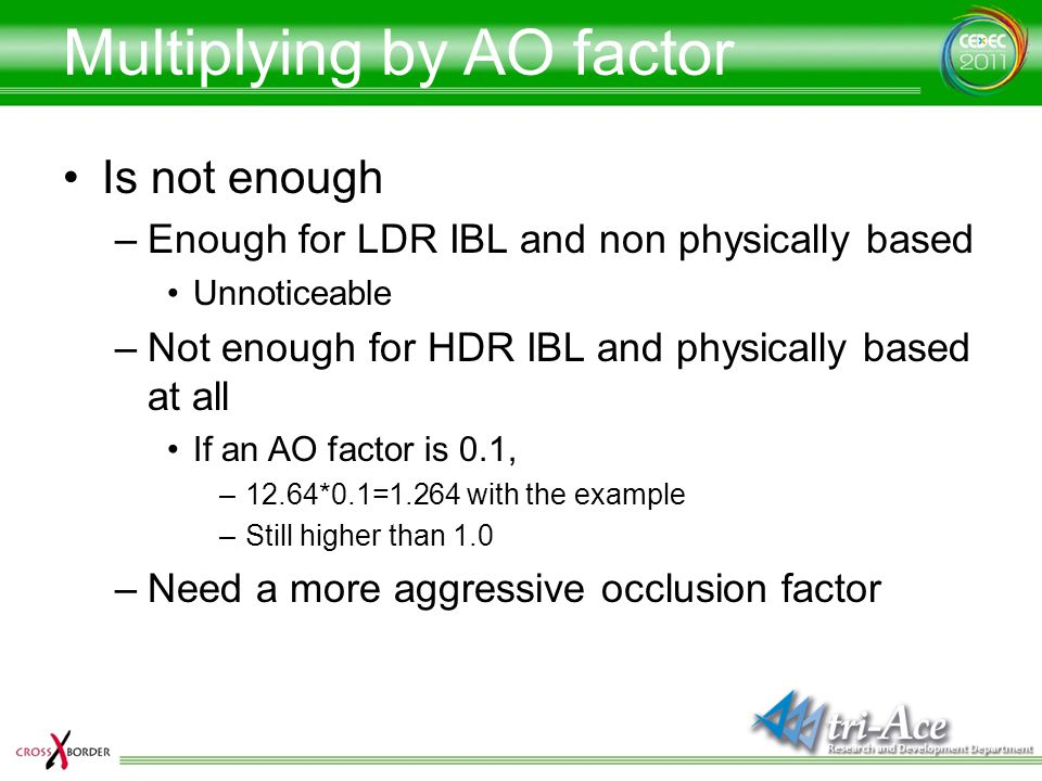 Multiplying by AO factor