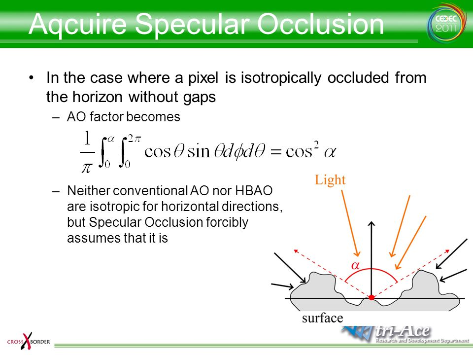 Aqcuire Specular Occlusion