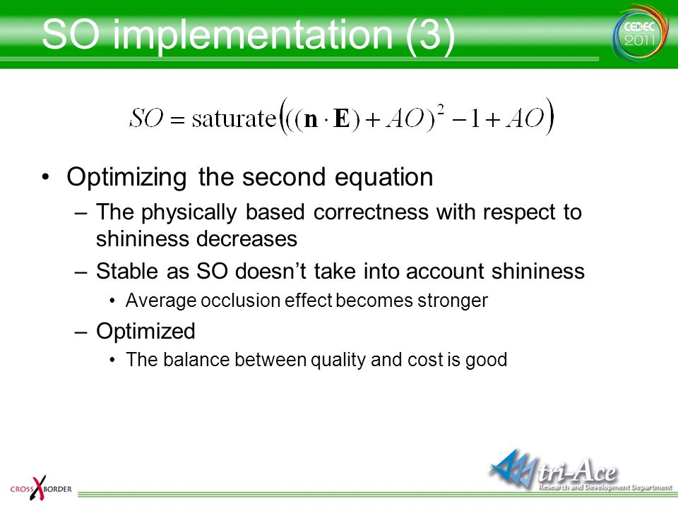 SO implementation (3) Optimizing the second equation
