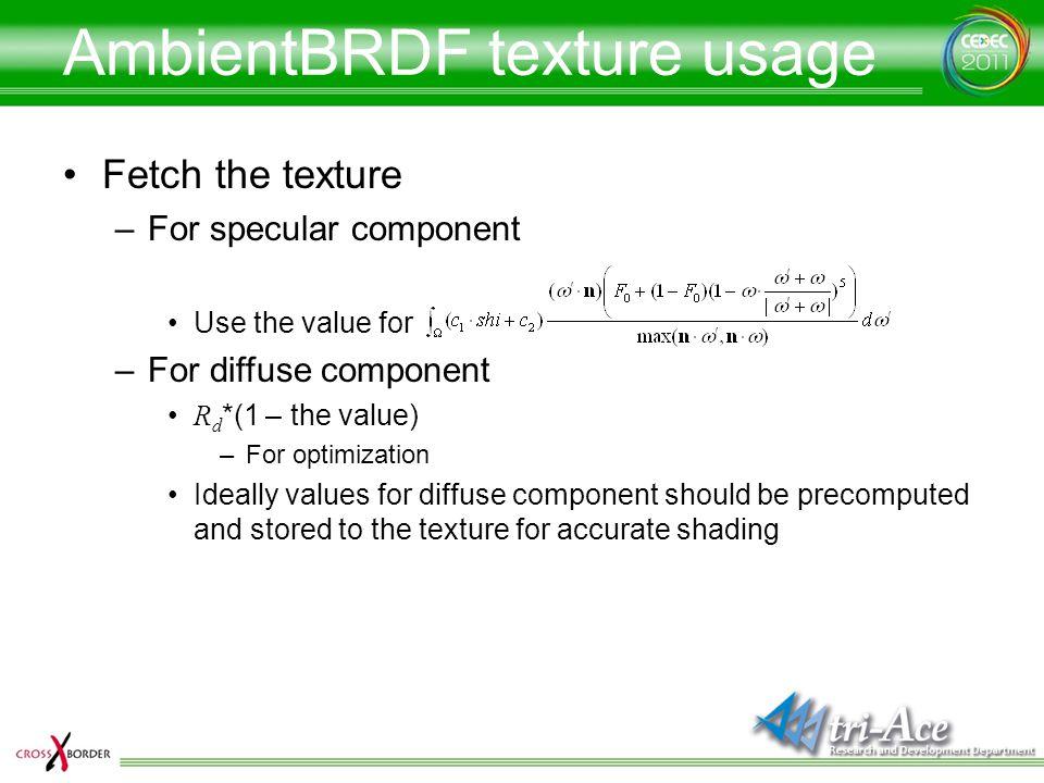 AmbientBRDF texture usage