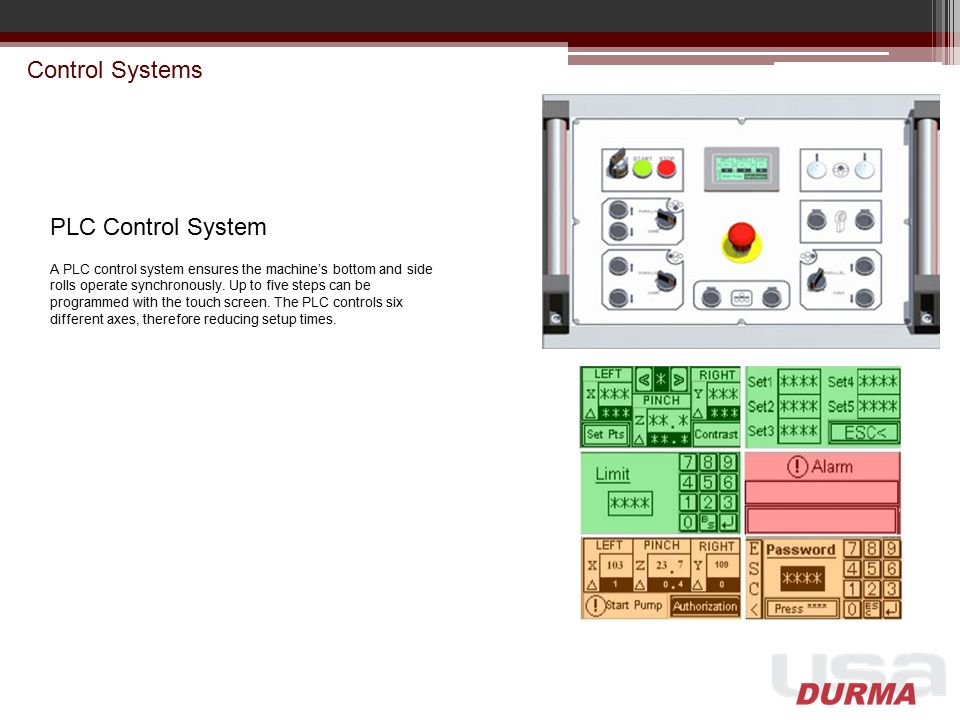 Control Systems PLC Control System