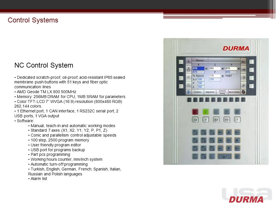 Control Systems NC Control System