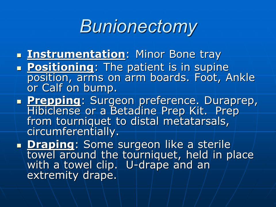 Bunionectomy Instrumentation: Minor Bone tray