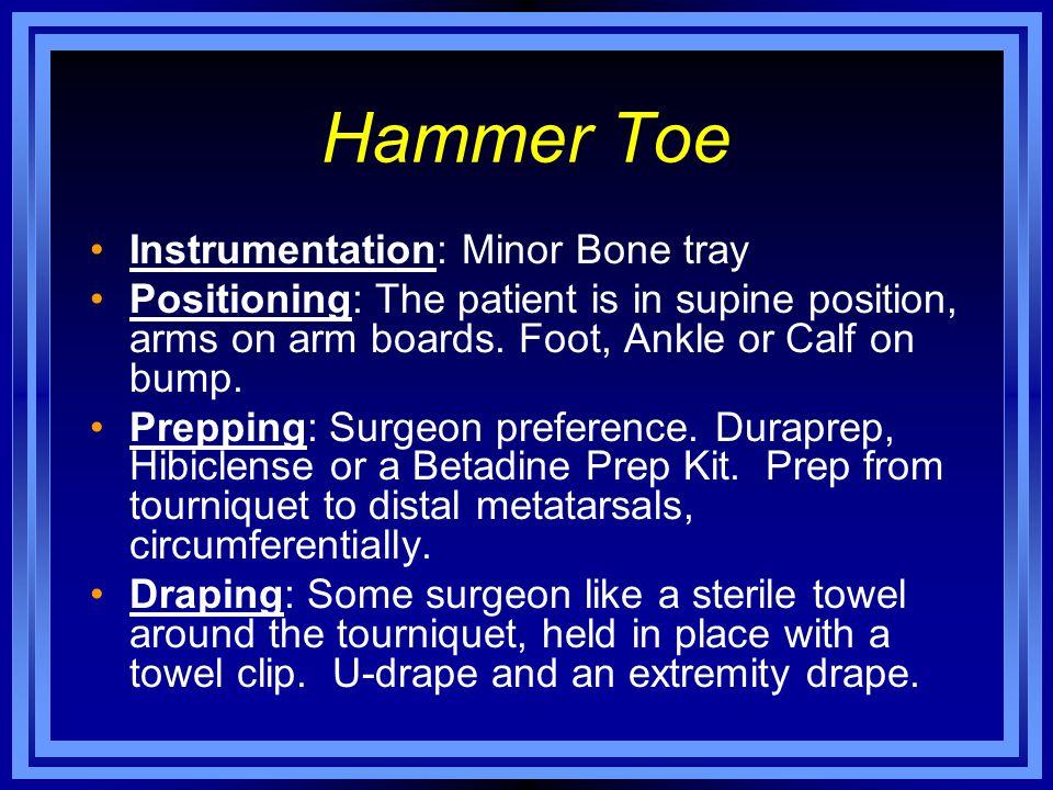 Hammer Toe Instrumentation: Minor Bone tray