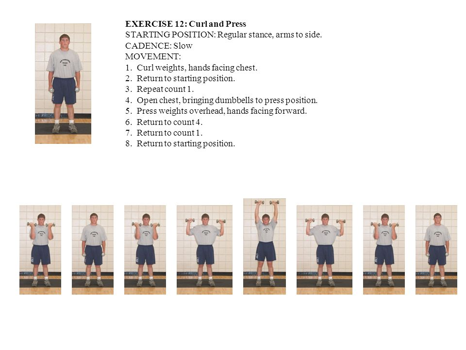 EXERCISE 12: Curl and Press