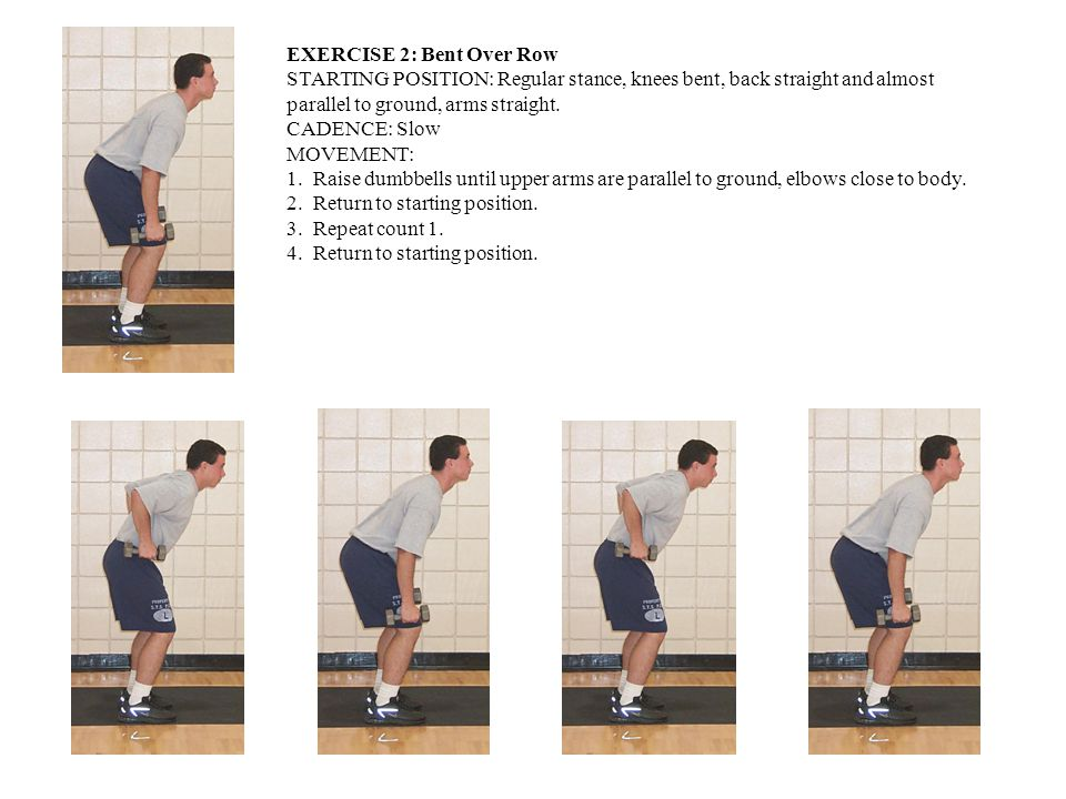 EXERCISE 2: Bent Over Row