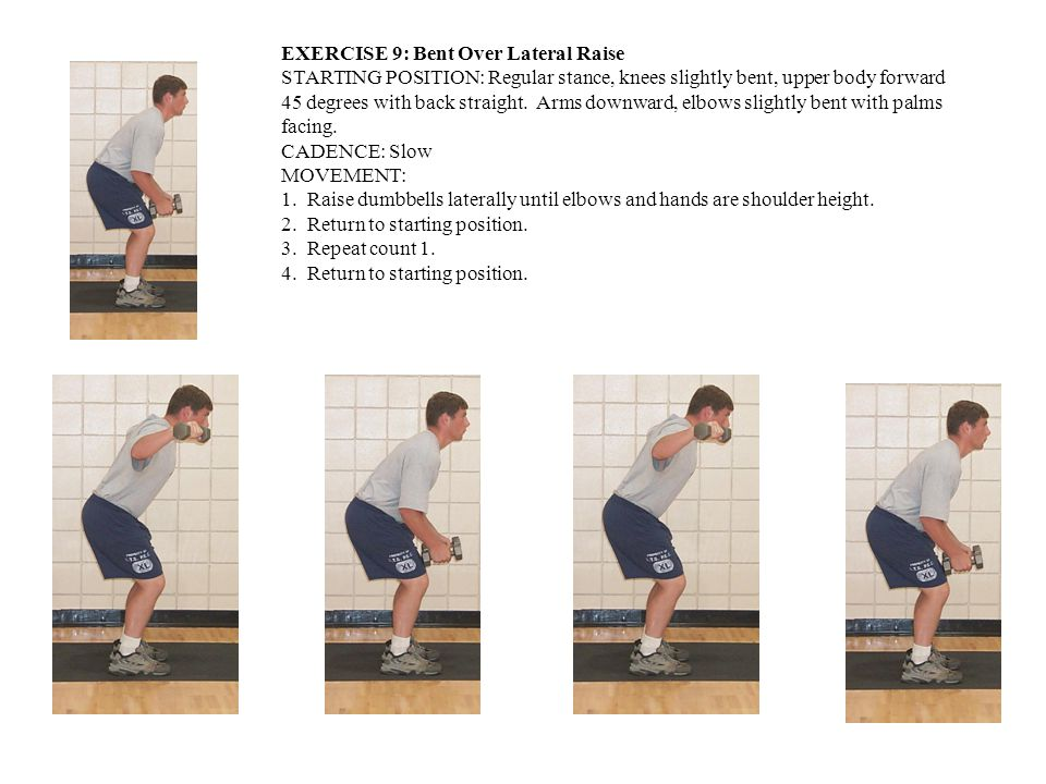 EXERCISE 9: Bent Over Lateral Raise