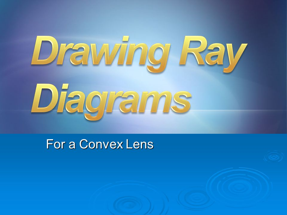 Drawing Ray Diagrams For a Convex Lens