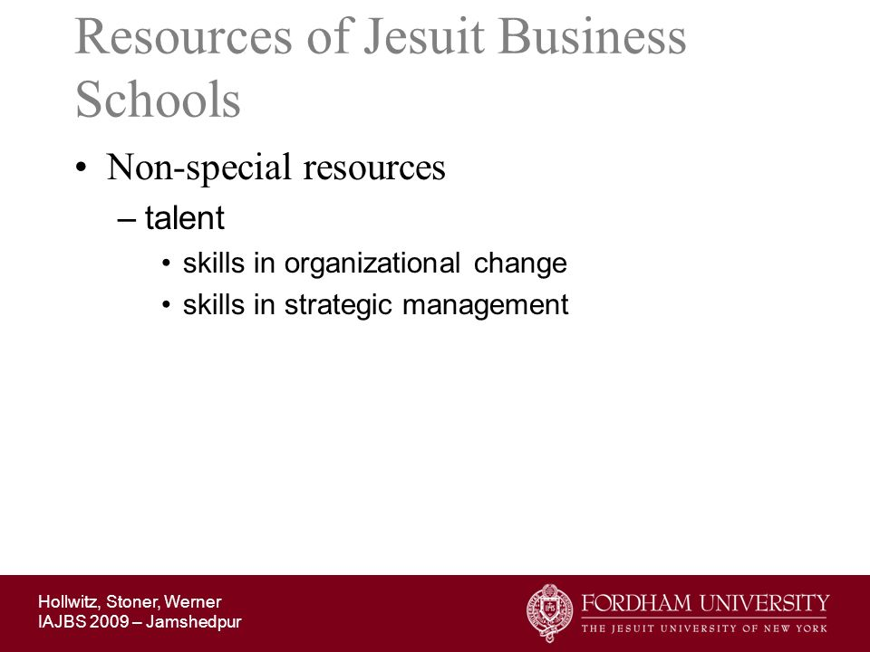 Resources of Jesuit Business Schools