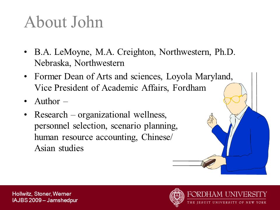 About John B.A. LeMoyne, M.A. Creighton, Northwestern, Ph.D. Nebraska, Northwestern.