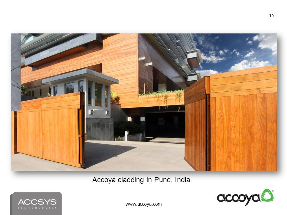 Accoya cladding in Pune, India.